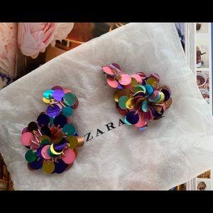 ZARA sequins earrings